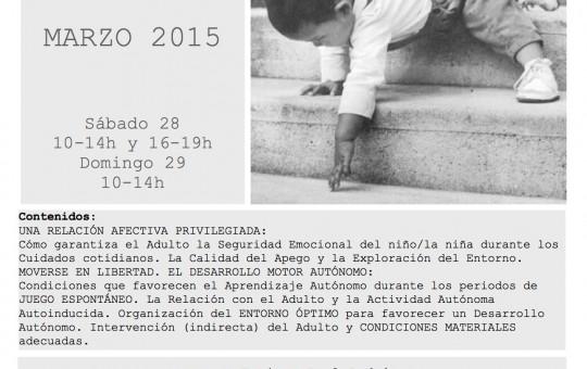 Enfoque Pikler- 28 de marzo-Zaragoza